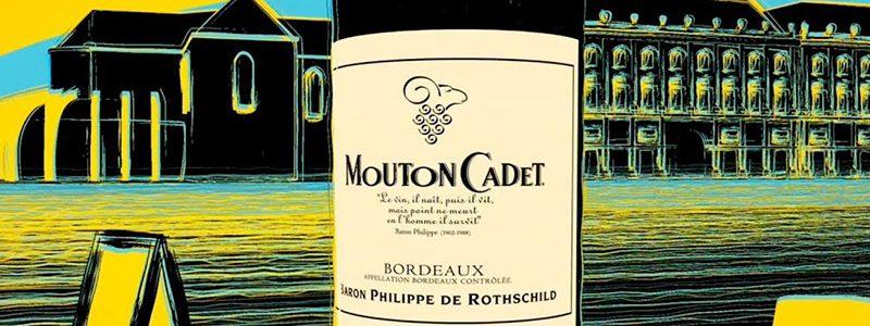Mouton wine cadet
